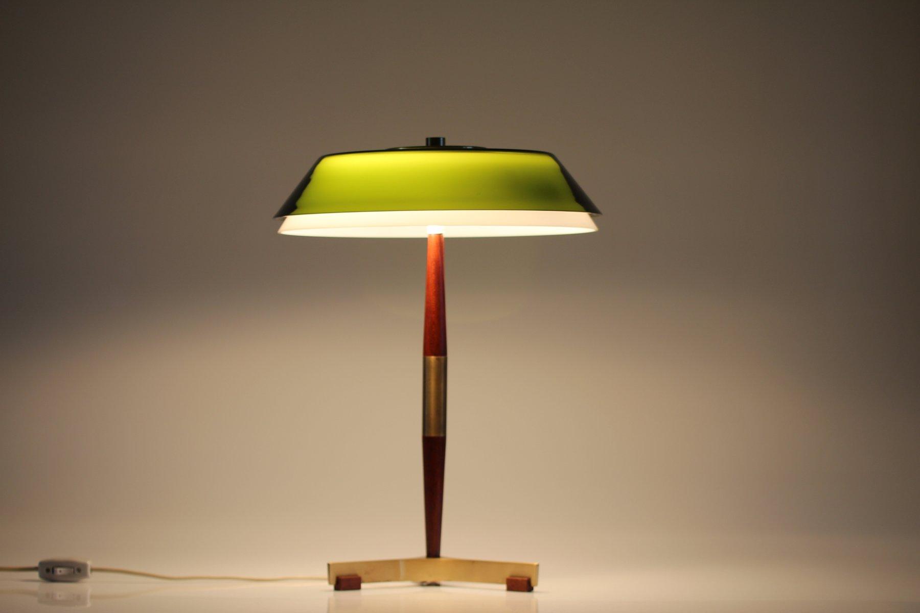 Senior Desk Lamp With Green Glass Shade By Jo Hammerborg For Fog U0026 Mørup,  1960s