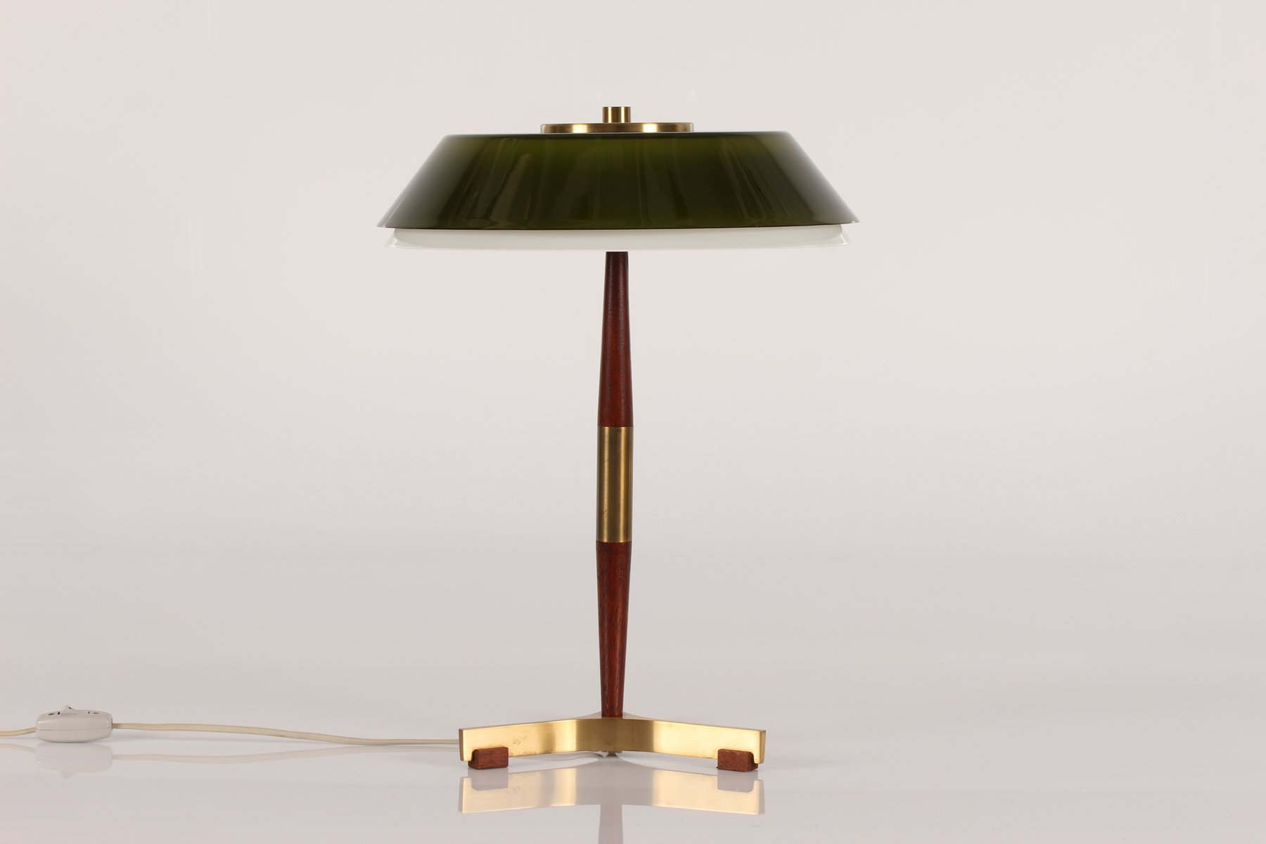 President desk lamp with green glass shade by jo hammerborg for president desk lamp with green glass shade by jo hammerborg for fog mrup 1960s aloadofball Gallery