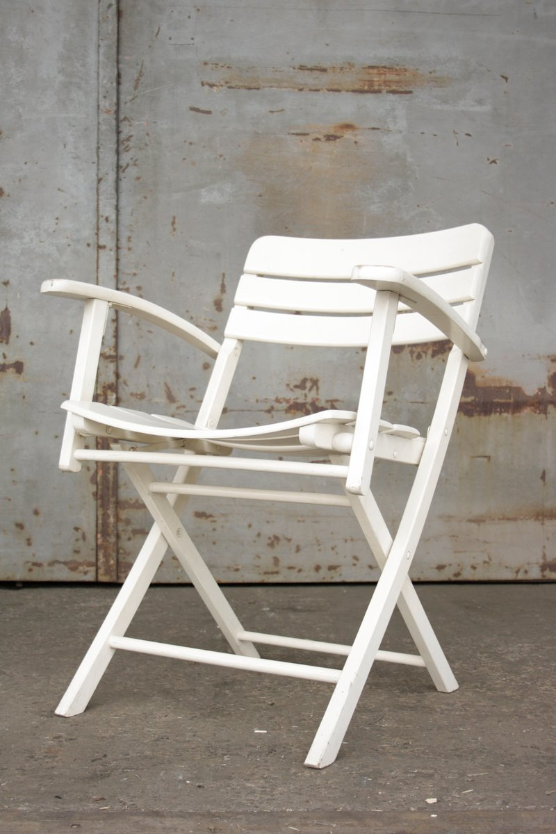 Folding Garden Furniture Vintage folding garden chairs in white lacquered wood from herlag vintage folding garden chairs in white lacquered wood from herlag set of 2 workwithnaturefo
