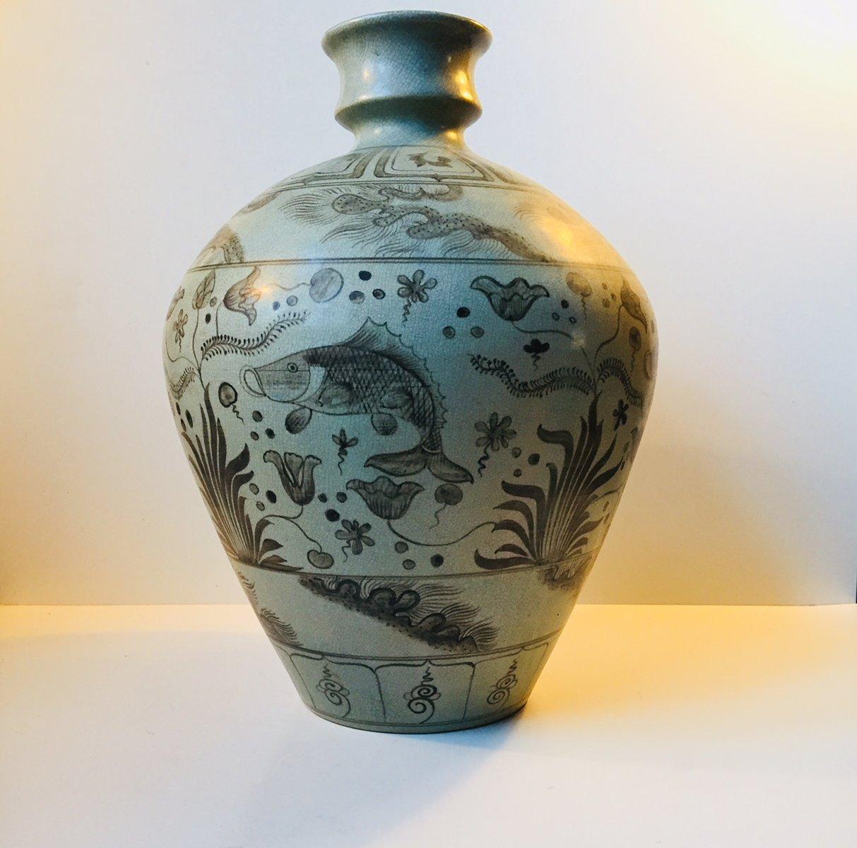 Danish art deco gray ceramic floor vase form lyngby porceln danish art deco gray ceramic floor vase form lyngby porceln 1930s for sale at pamono reviewsmspy