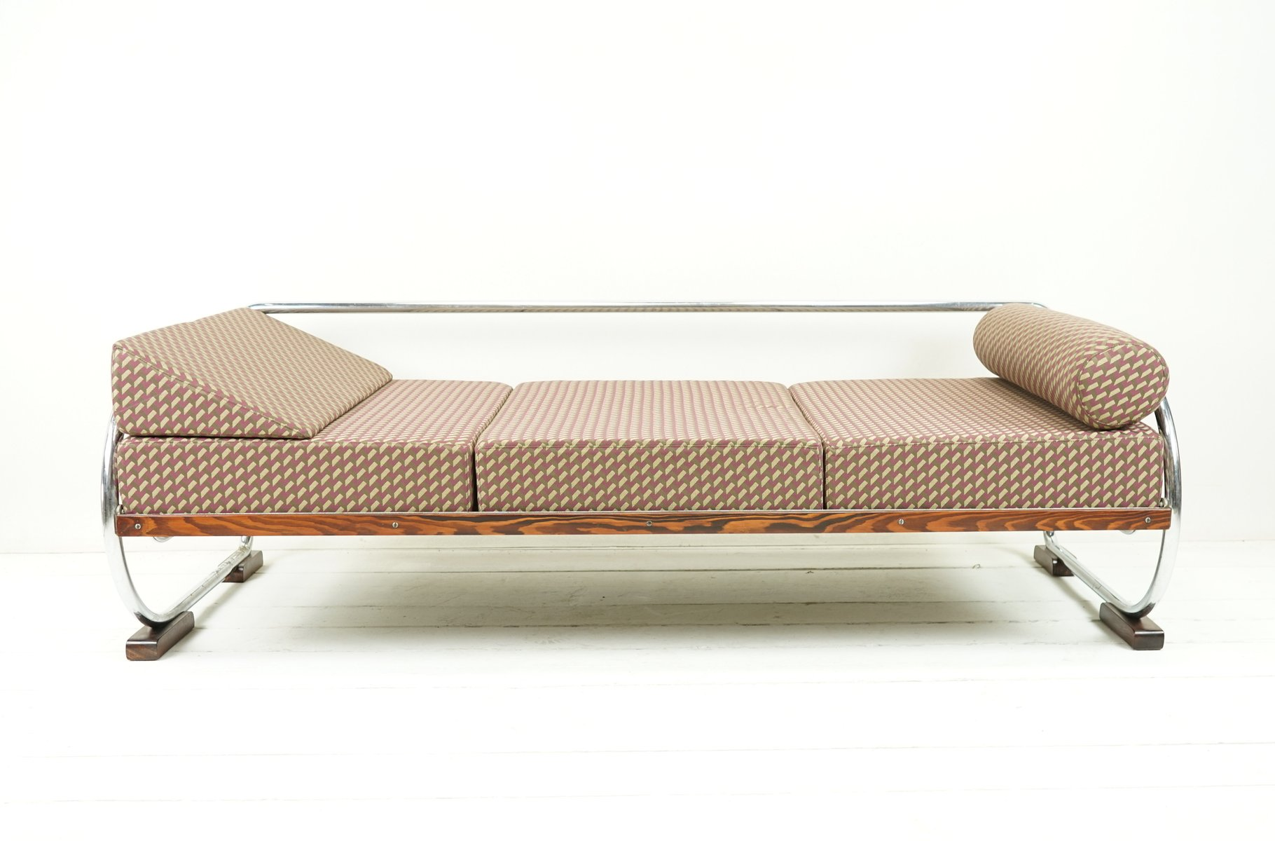 Bauhaus Daybed Sofa In 3D Fabric From Gottwald, 1930s