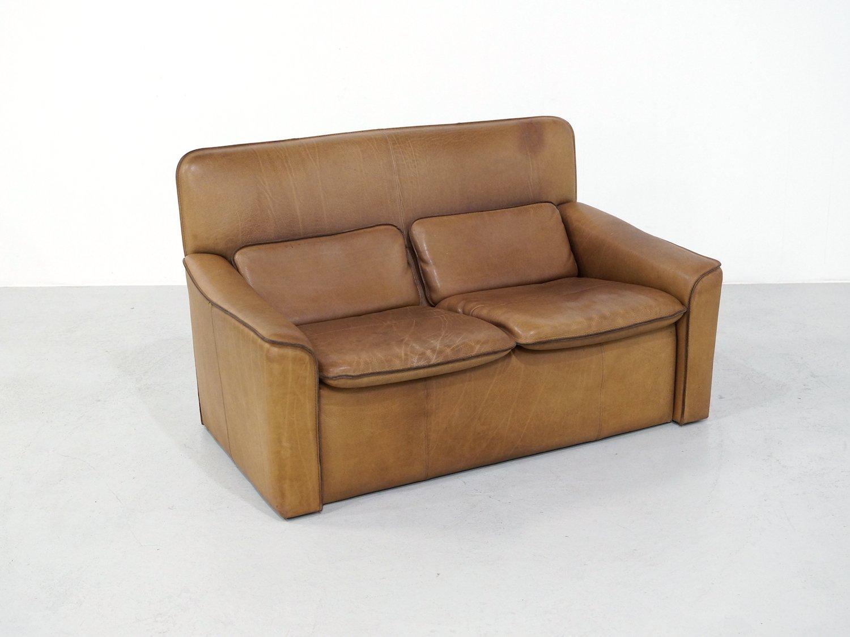 2 sitzer sofa von leolux aus nackenleder 1970er bei pamono kaufen. Black Bedroom Furniture Sets. Home Design Ideas