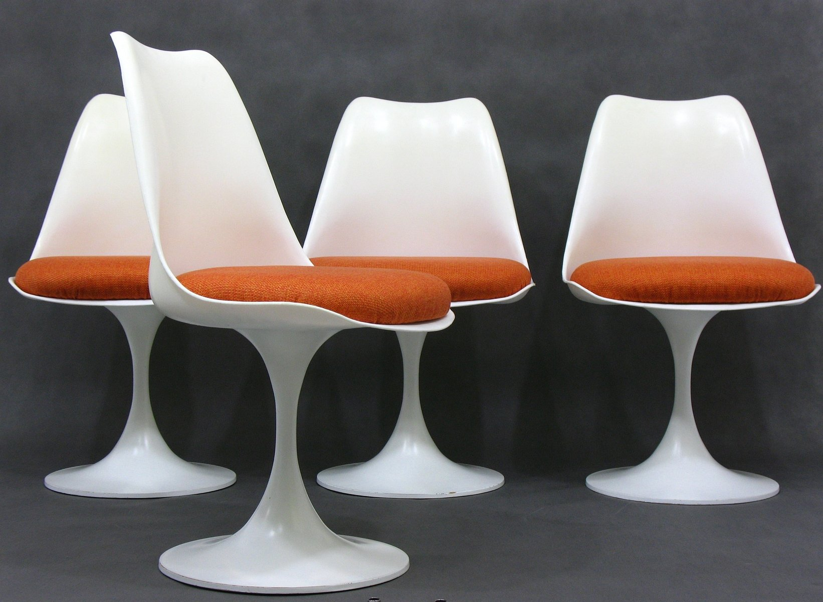 Mid century space age german white plastic dining chairs for White plastic dining chair