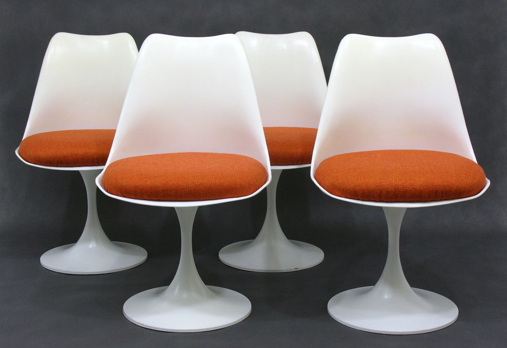 Mid Century Space Age German White Plastic Dining Chairs From