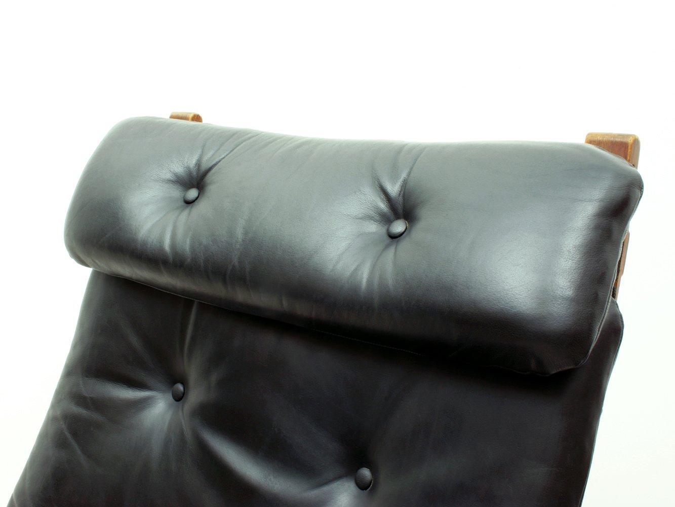 Norwegian Siesta Plywood Amp Leather Lounge Chair Amp Ottoman