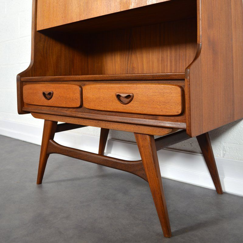 Mid Century Secretary U0026 Bar Cabinet By Louis Van Teeffelen For Wébé