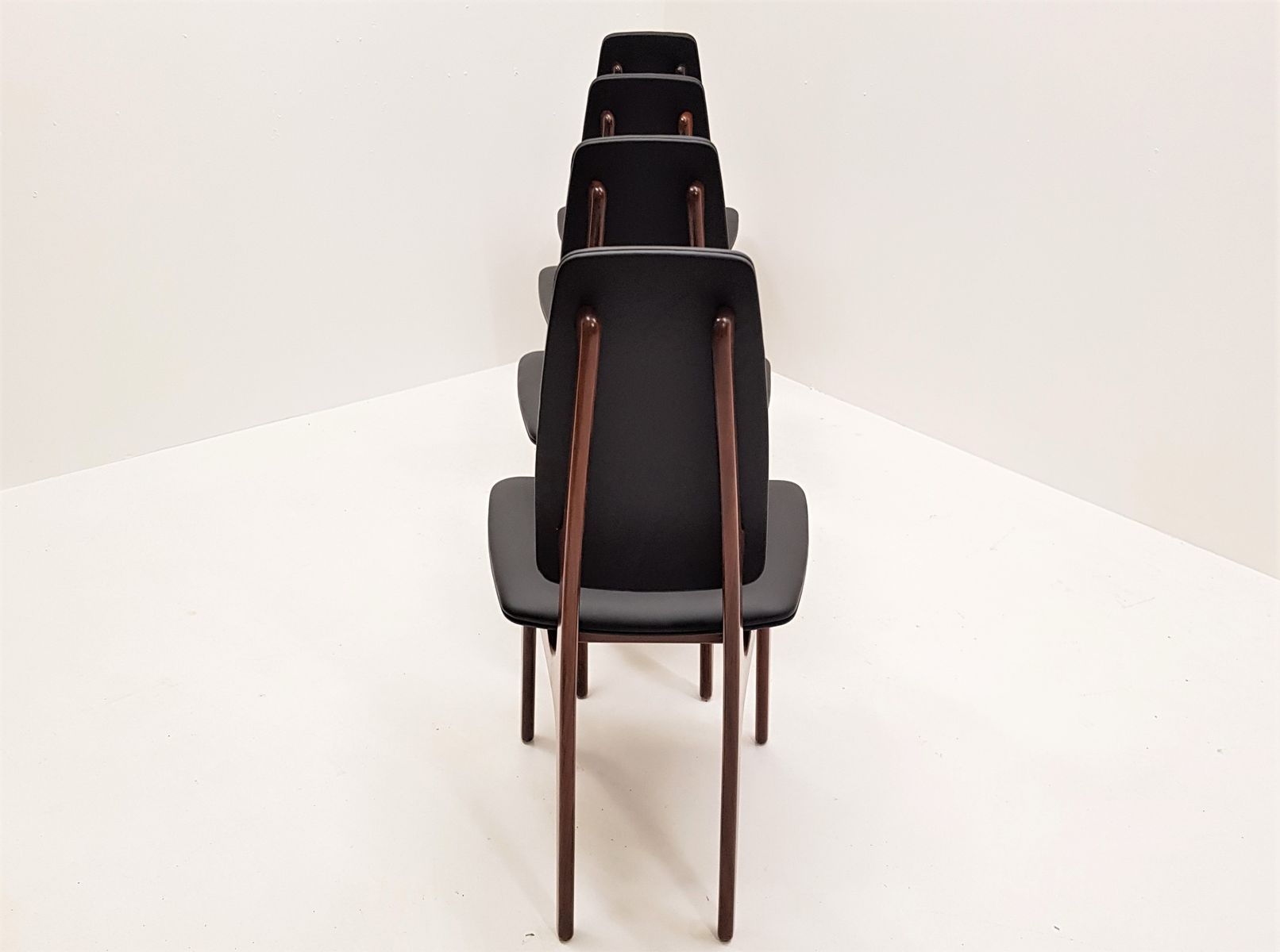 Rosewood Dining Chairs by Helge Vestergaard Jensen for O D M¸bler