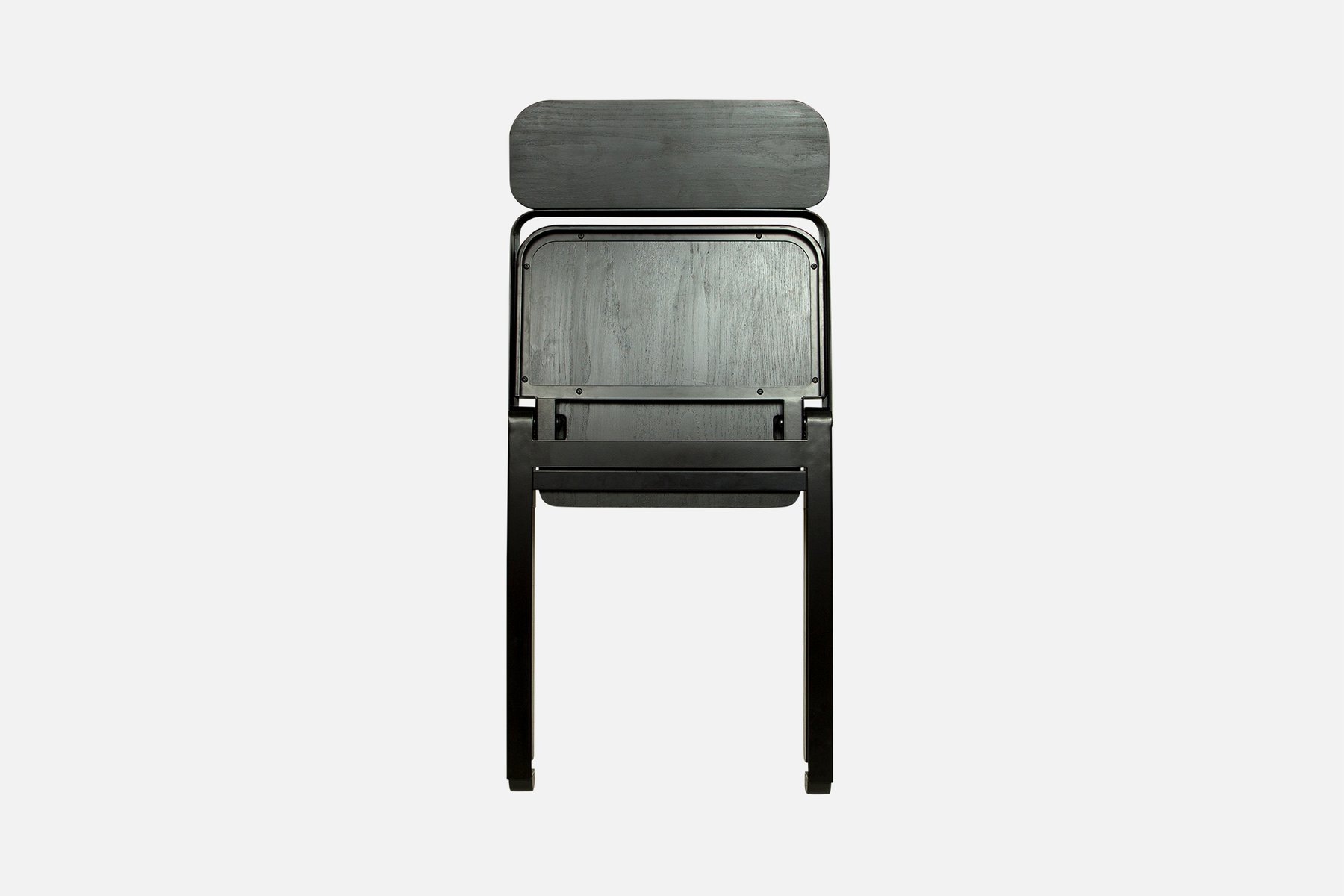Profile Folding Chair in Black by Knauf and Brown for Souda for