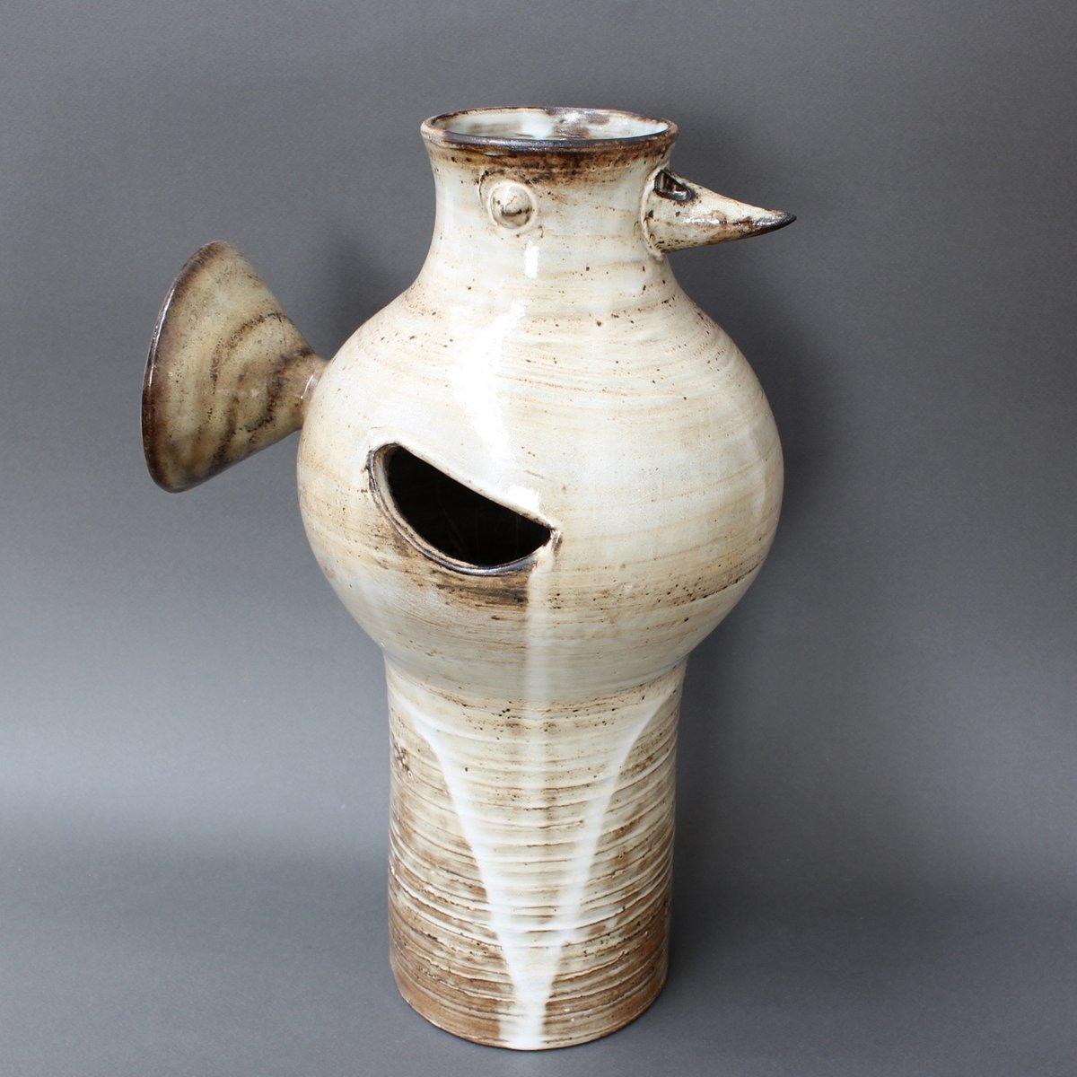 Vintage glazed ceramic bird shaped vase by jacques pouchain for vintage glazed ceramic bird shaped vase by jacques pouchain reviewsmspy