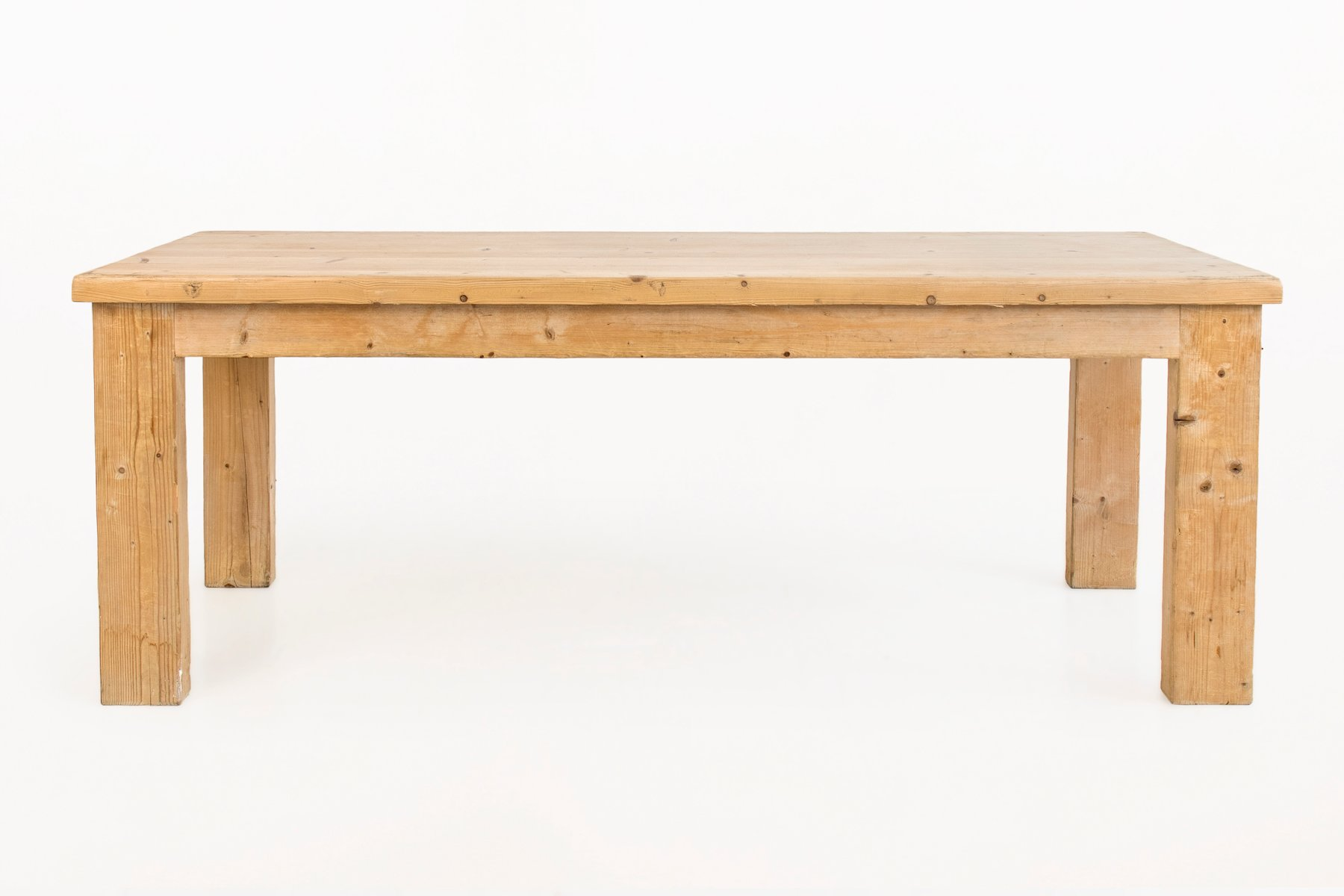 pine dining table by guy rey millet jean prouv 1970s for sale at pamono - Pine Dining Table