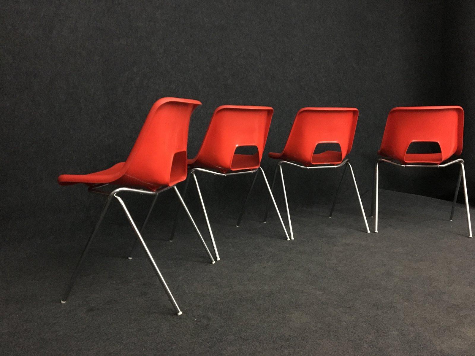 st hle von n gammelgaard f r ikea 1980er 4er set bei pamono kaufen. Black Bedroom Furniture Sets. Home Design Ideas