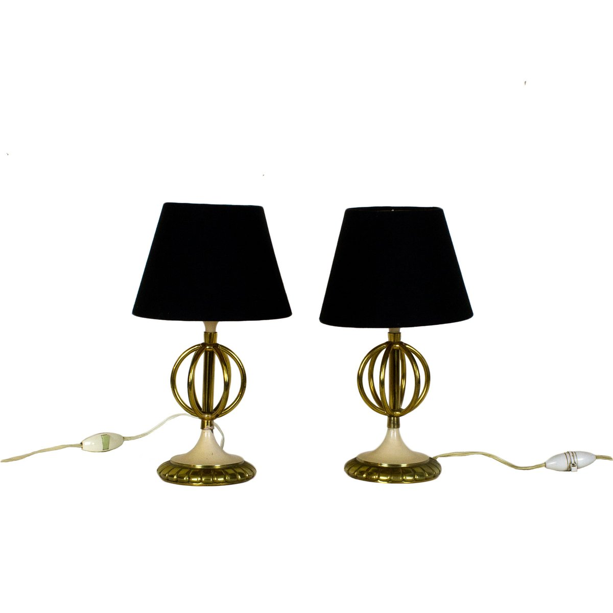 Awesome Small French Table Lamps, 1950s, Set Of 2