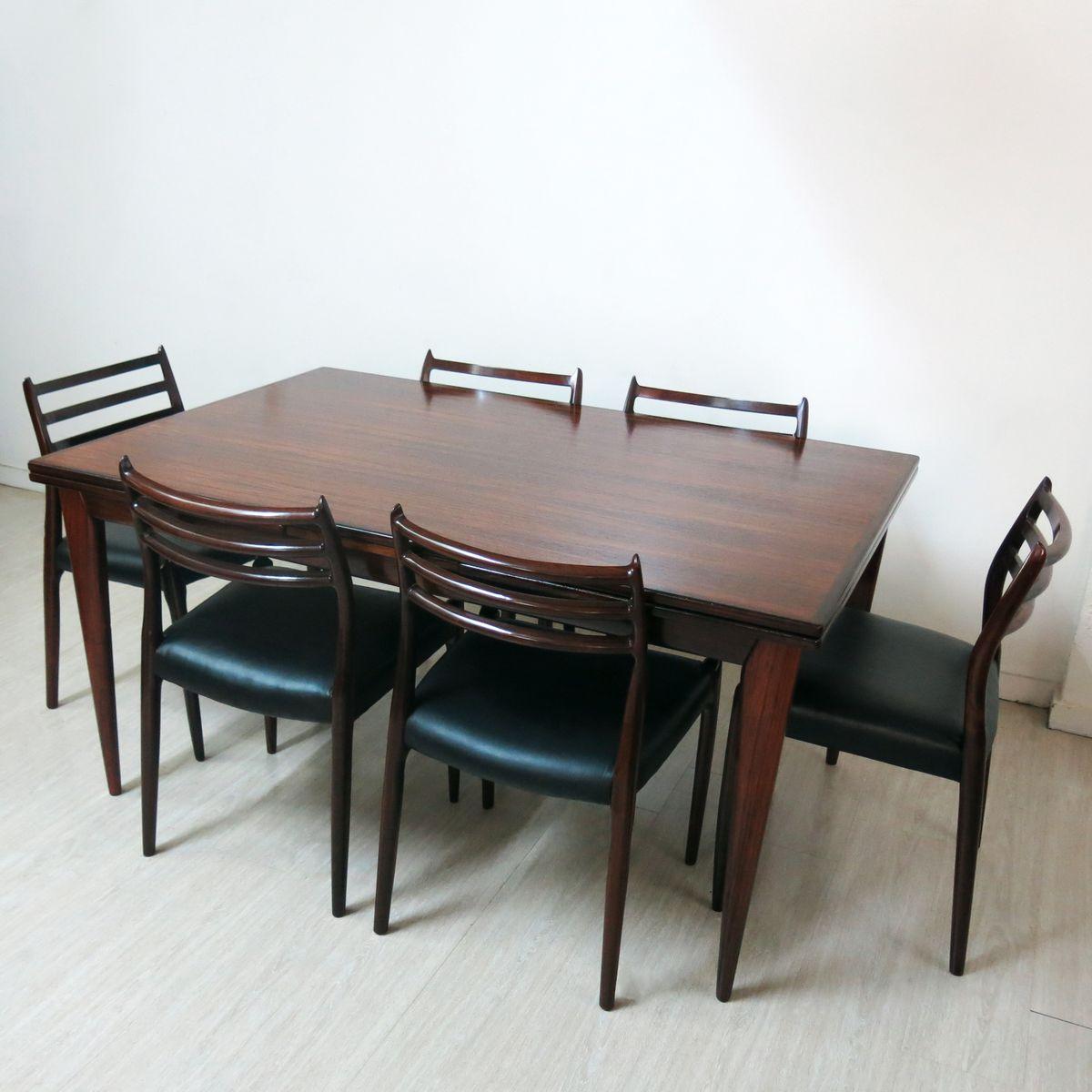 model 12 table model 78 chairs dining set by niels o moller for j l m ller m belfabrik. Black Bedroom Furniture Sets. Home Design Ideas