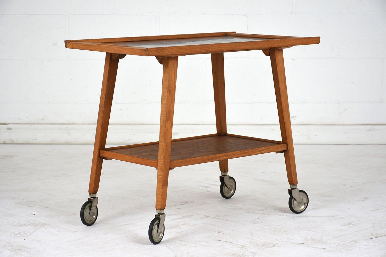 mid century modern holz servierwagen bei pamono kaufen. Black Bedroom Furniture Sets. Home Design Ideas
