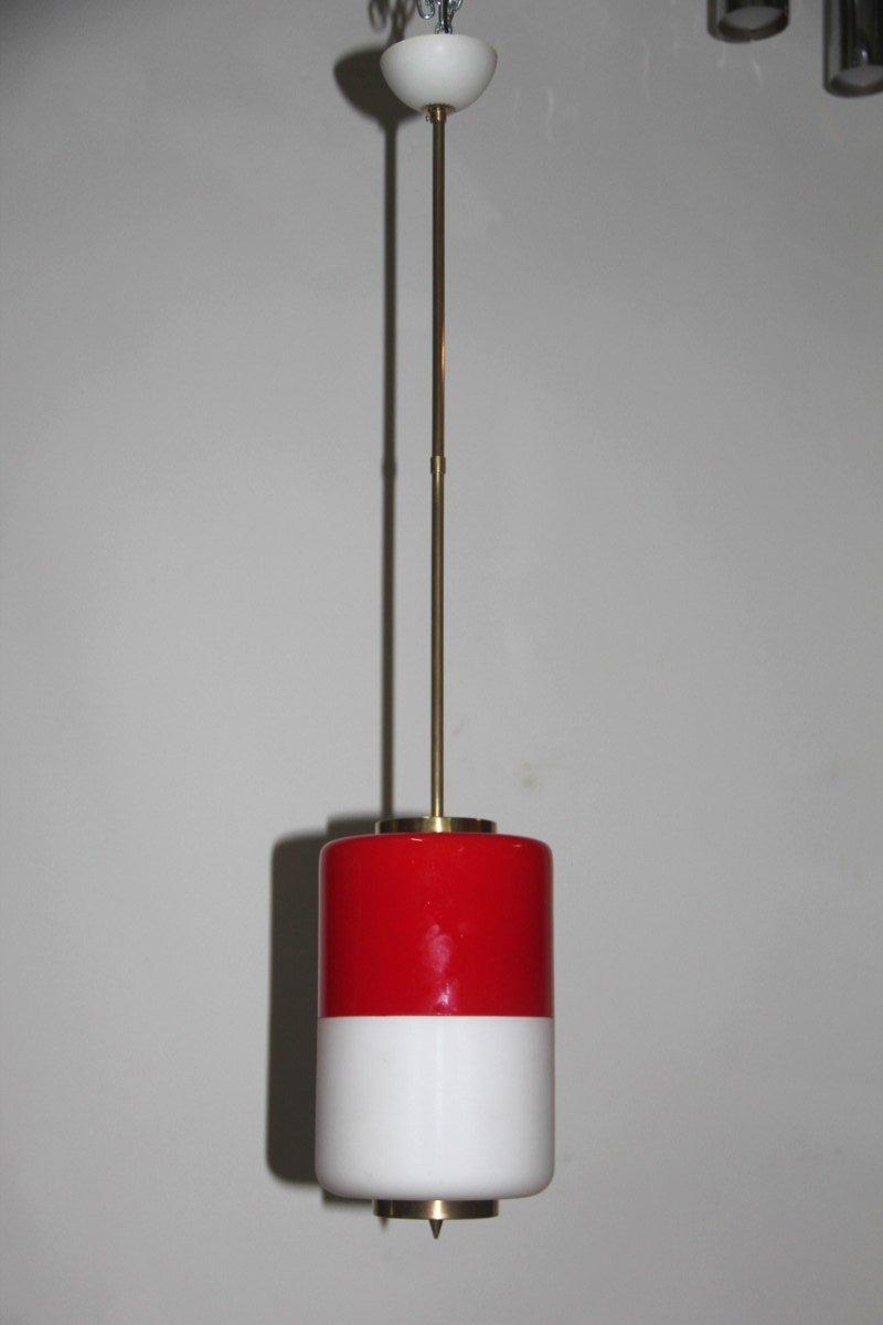 italian pendant lighting. Italian Red \u0026 White Pendant Light, 1950s Lighting