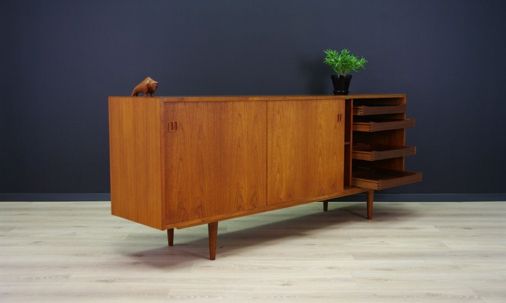 d nisches mid century teak sideboard bei pamono kaufen. Black Bedroom Furniture Sets. Home Design Ideas