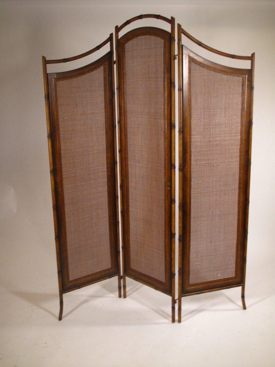 franz sischer raumteiler aus metall korbgeflecht 1950er bei pamono kaufen. Black Bedroom Furniture Sets. Home Design Ideas