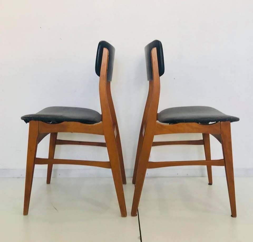 d nische mid century st hle 1950er 4er set bei pamono kaufen. Black Bedroom Furniture Sets. Home Design Ideas