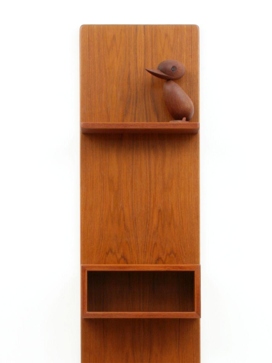 d nische mid century teak garderobe mit schirmst nder von. Black Bedroom Furniture Sets. Home Design Ideas