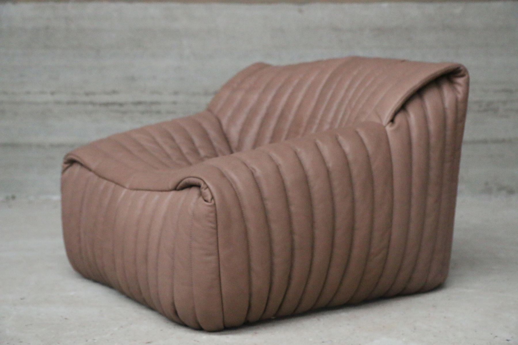 vintage armchair ottoman by annie hieronimus for cinna. Black Bedroom Furniture Sets. Home Design Ideas