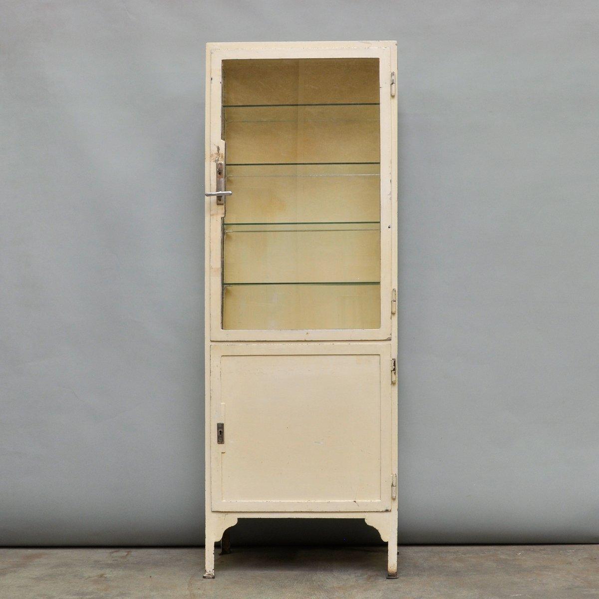 Vintage Steel U0026 Glass Medicine Cabinet, 1940s