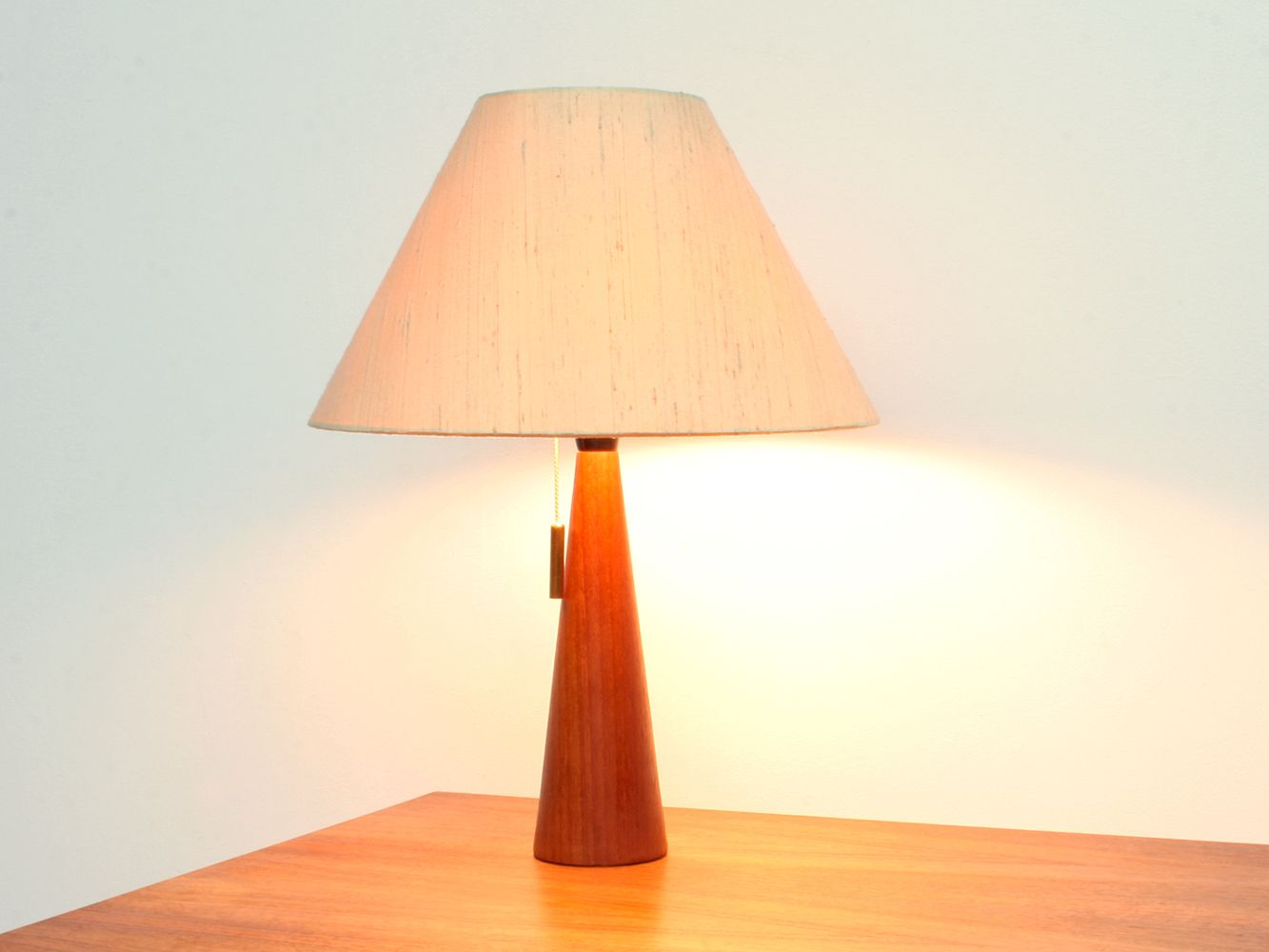Mid-Century Danish Teak Desk Lamp, 1950s for sale at Pamono