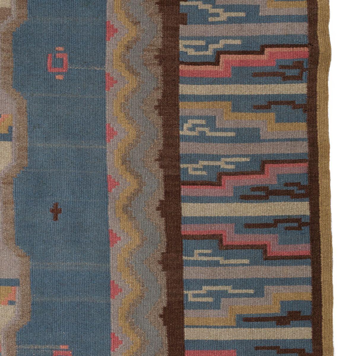 finnischer vintage art d co teppich bei pamono kaufen. Black Bedroom Furniture Sets. Home Design Ideas