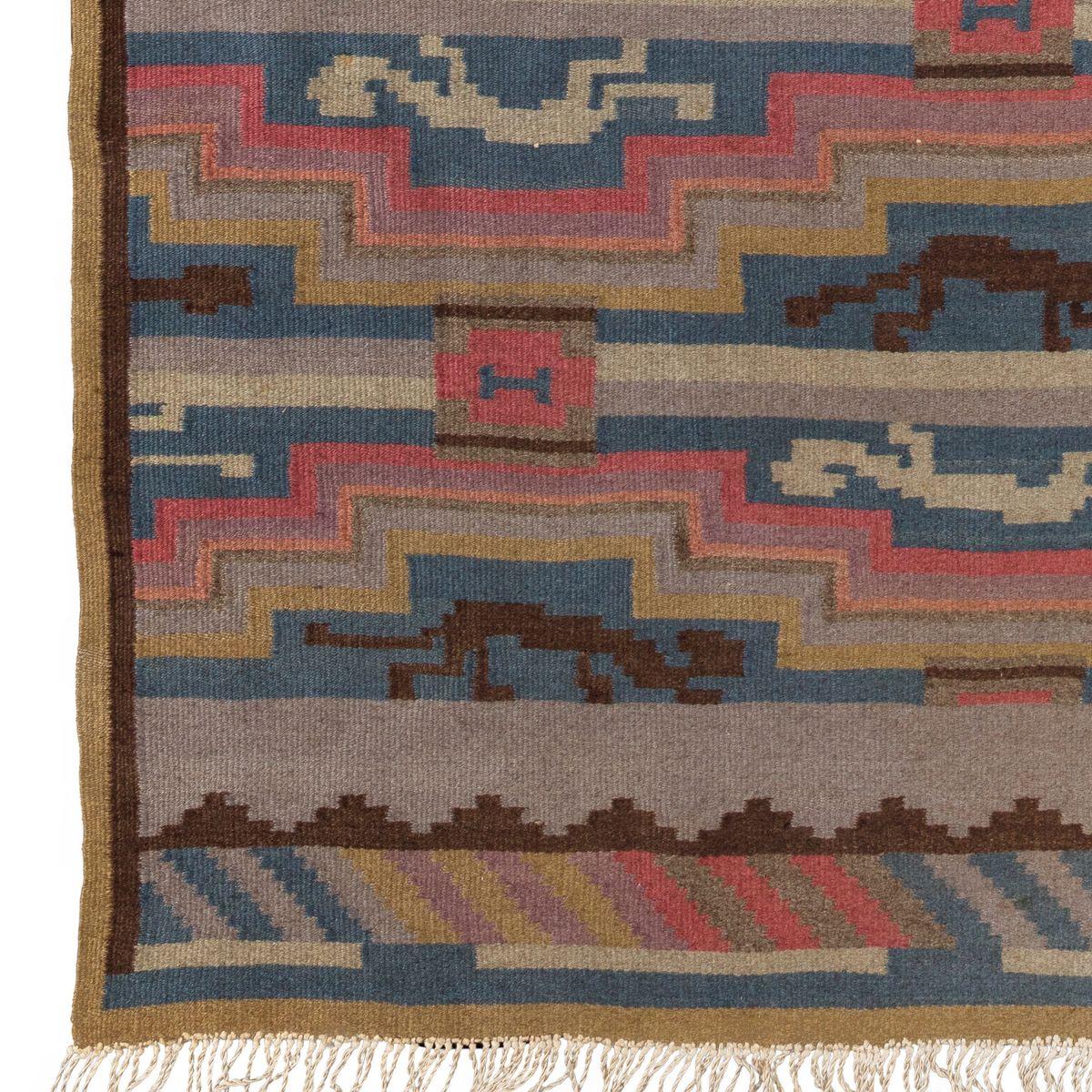 finnischer vintage art d co teppich bei pamono kaufen