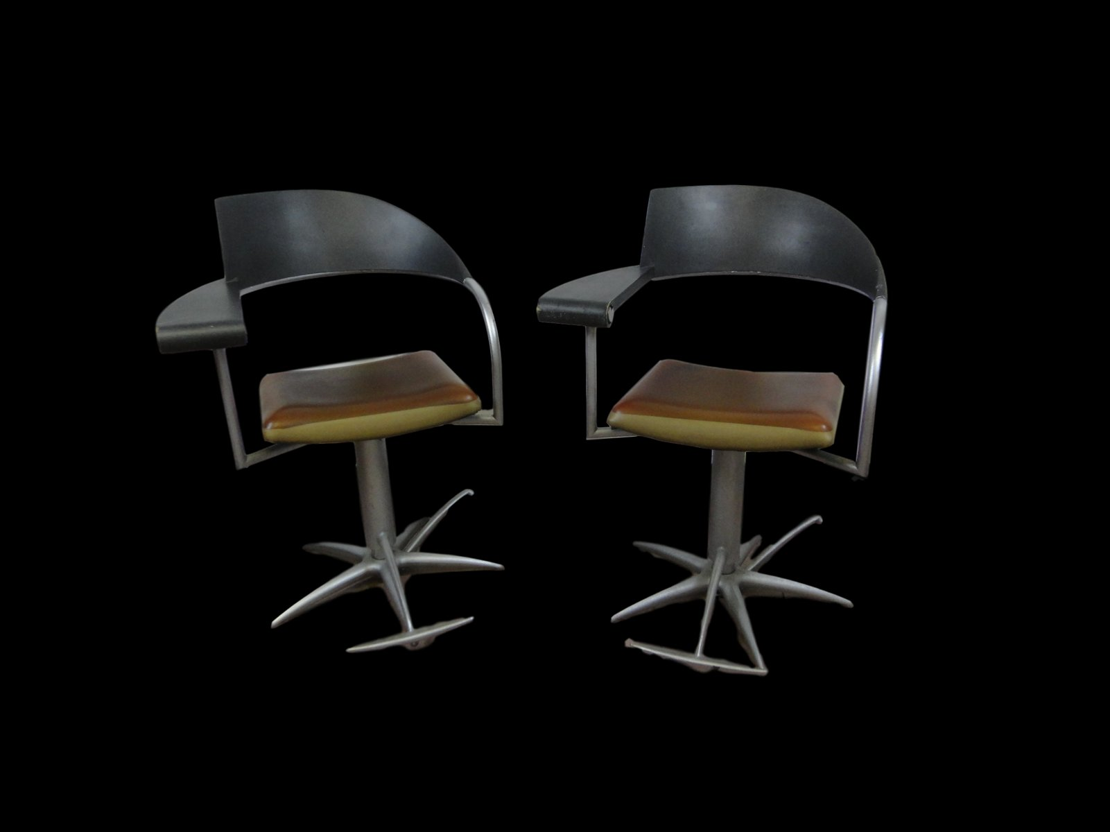 Sedie vintage da barbiere di Philippe Starck per Tecno, anni \'90 ...