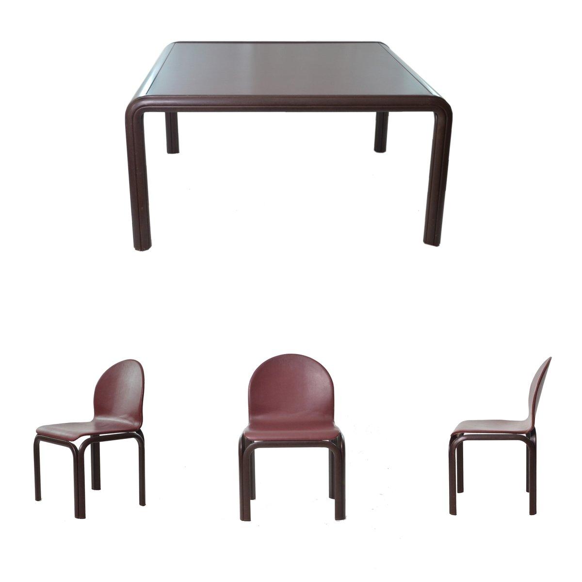 vintage tisch stuhl set von gae aulenti f r knoll inc 1970er bei pamono kaufen. Black Bedroom Furniture Sets. Home Design Ideas