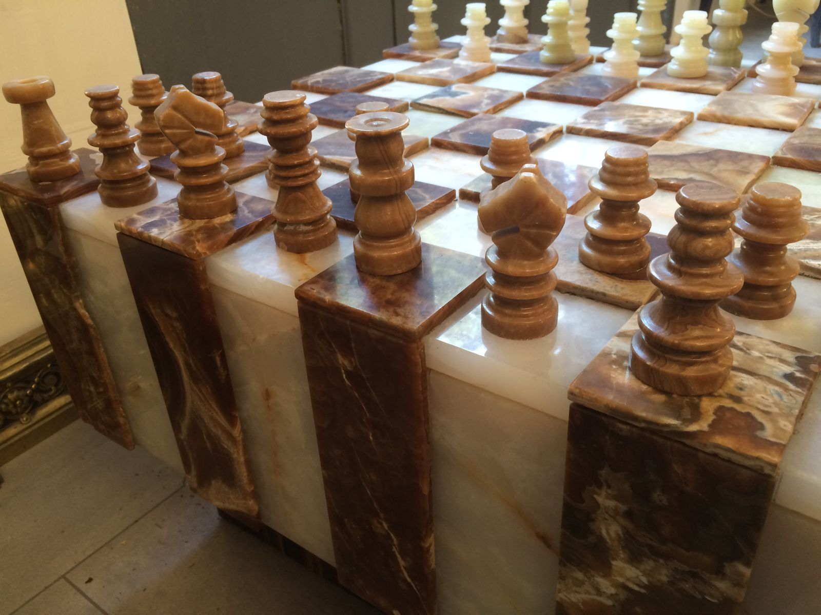 Vintage yx Chessboard Coffee Table for sale at Pamono