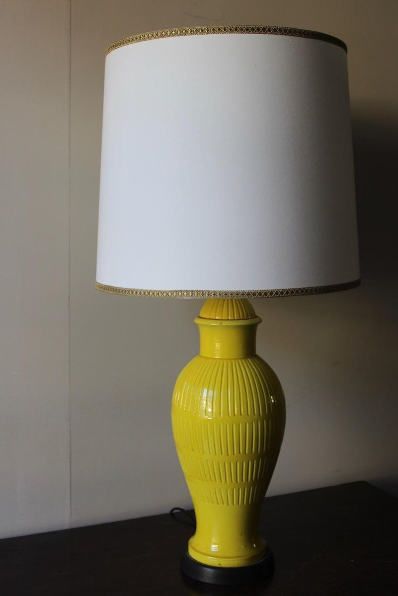 Italian pottery table lamps 1960s set of 2 for sale at pamono mozeypictures Images