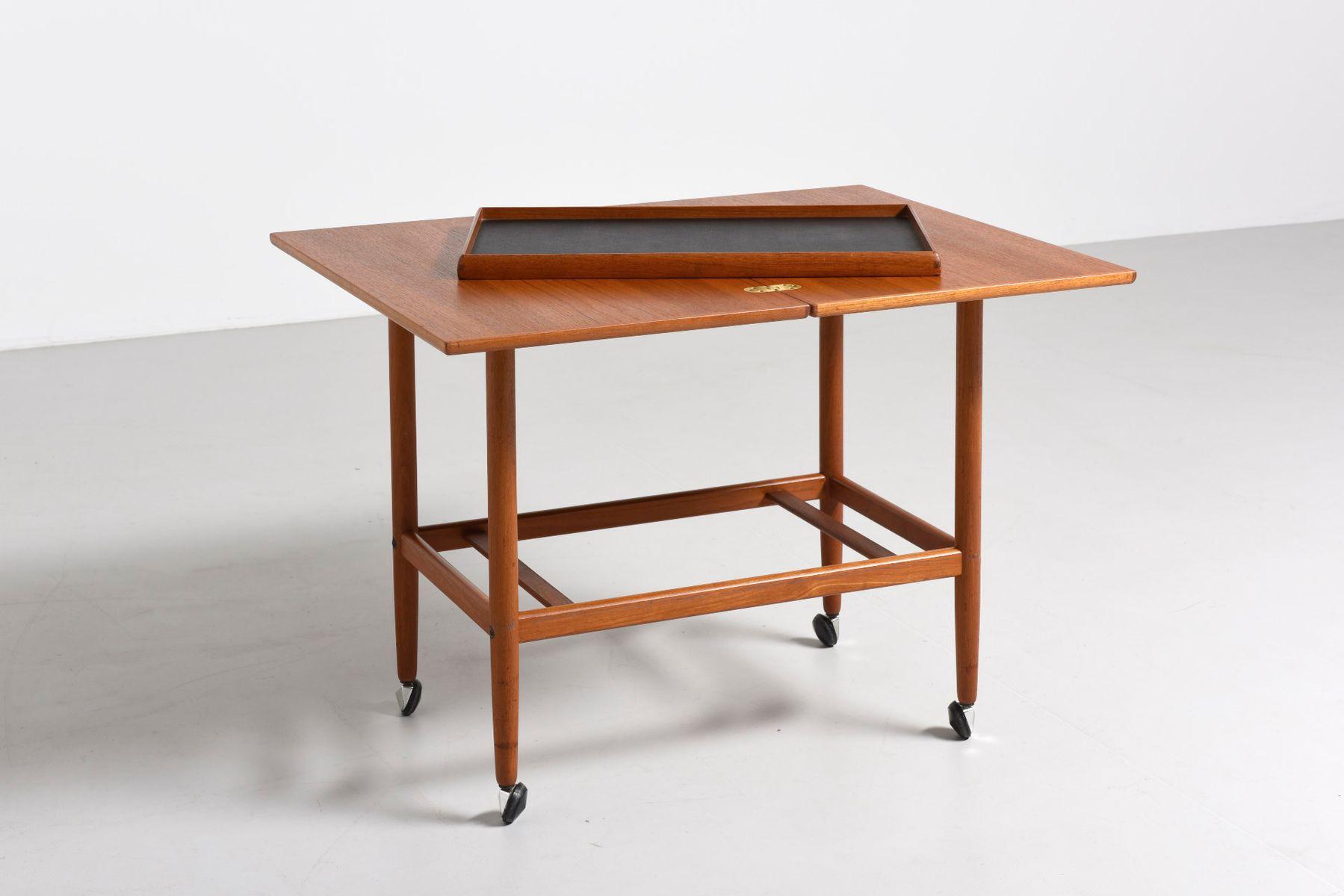 teak servierwagen von grete jalk f r cfc silkeborg 1960er bei pamono kaufen. Black Bedroom Furniture Sets. Home Design Ideas