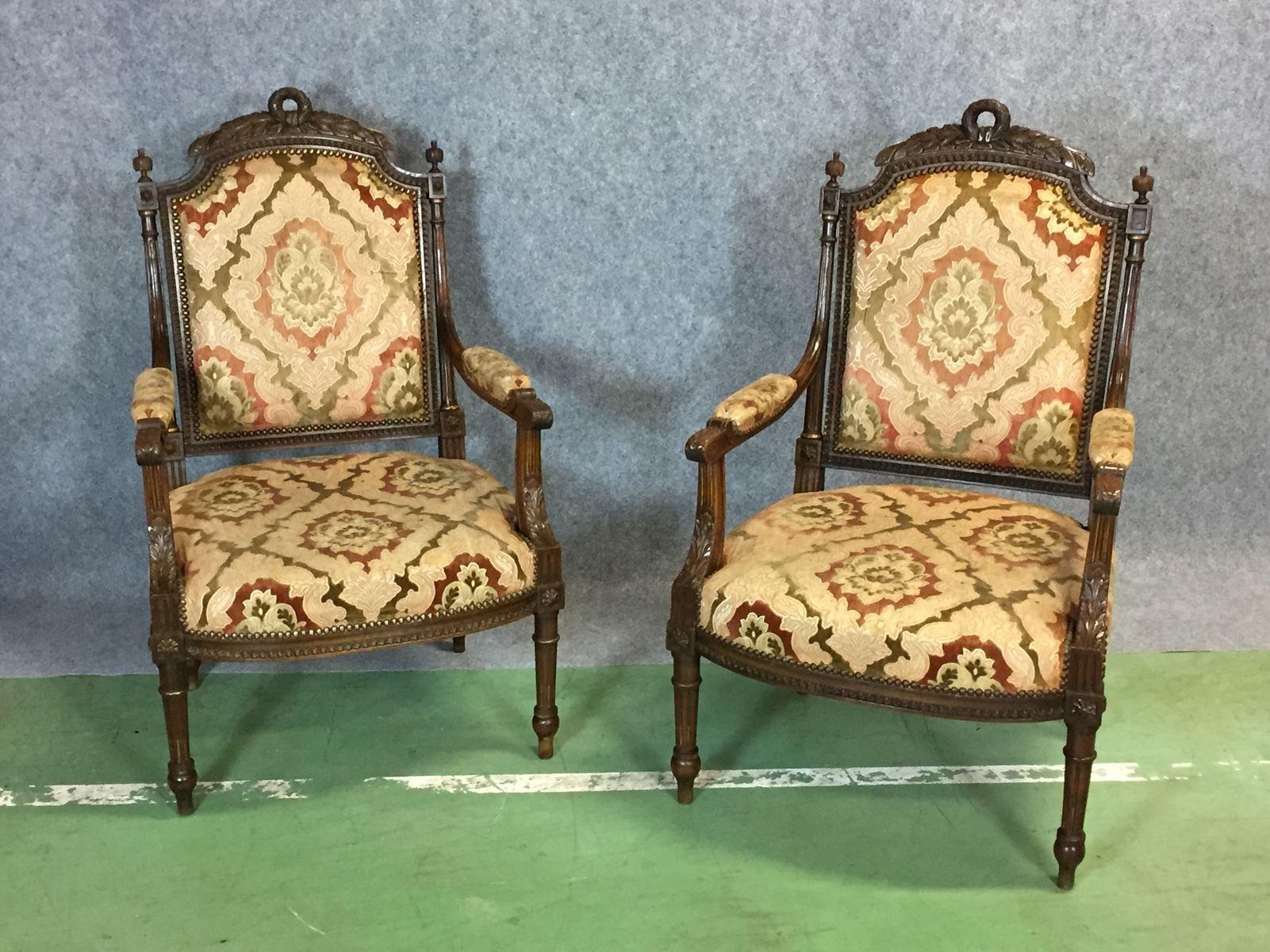 mobilier de salon style louis xvi vintage en vente sur pamono. Black Bedroom Furniture Sets. Home Design Ideas
