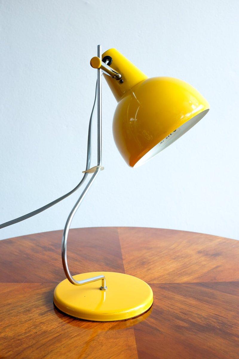 Yellow Desk Lamp By Josef Hurka For Lidokov, 1960s
