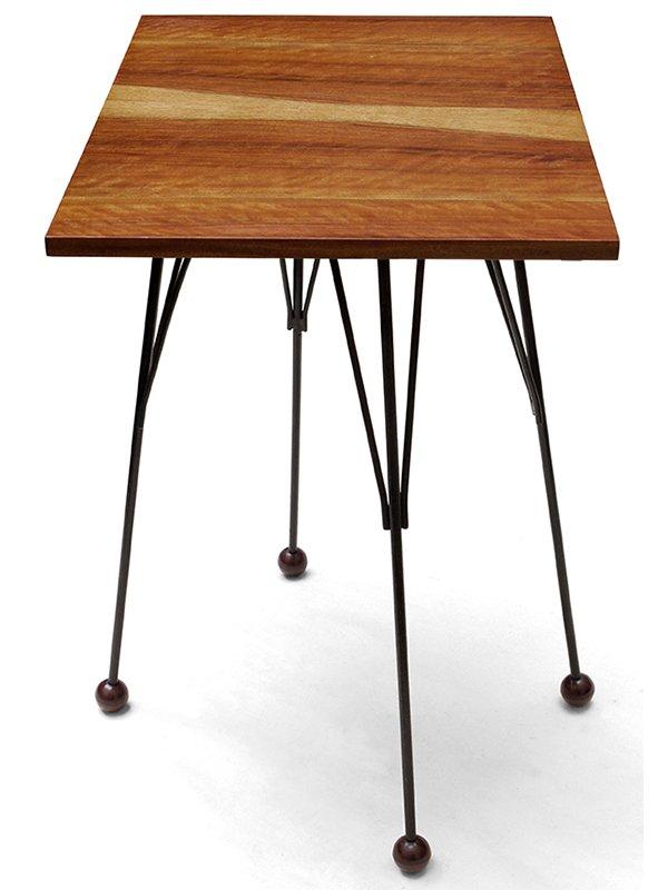 tschechoslowakischer tv tisch aus holz mit drehplatte 1950er bei pamono kaufen. Black Bedroom Furniture Sets. Home Design Ideas