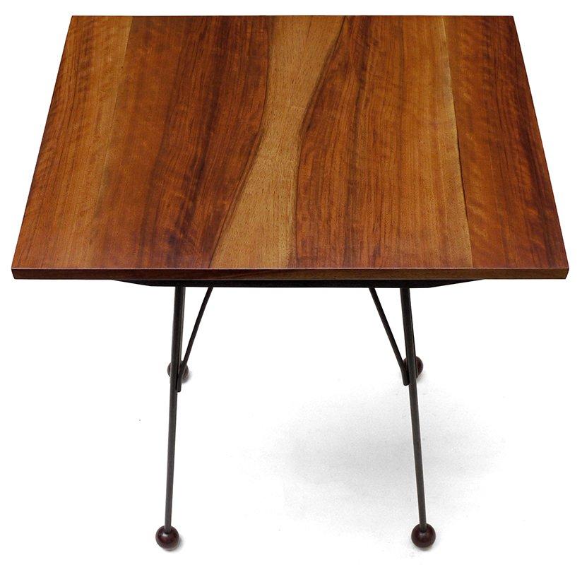 table tv en bois avec plateau pivotant tch coslovaquie. Black Bedroom Furniture Sets. Home Design Ideas