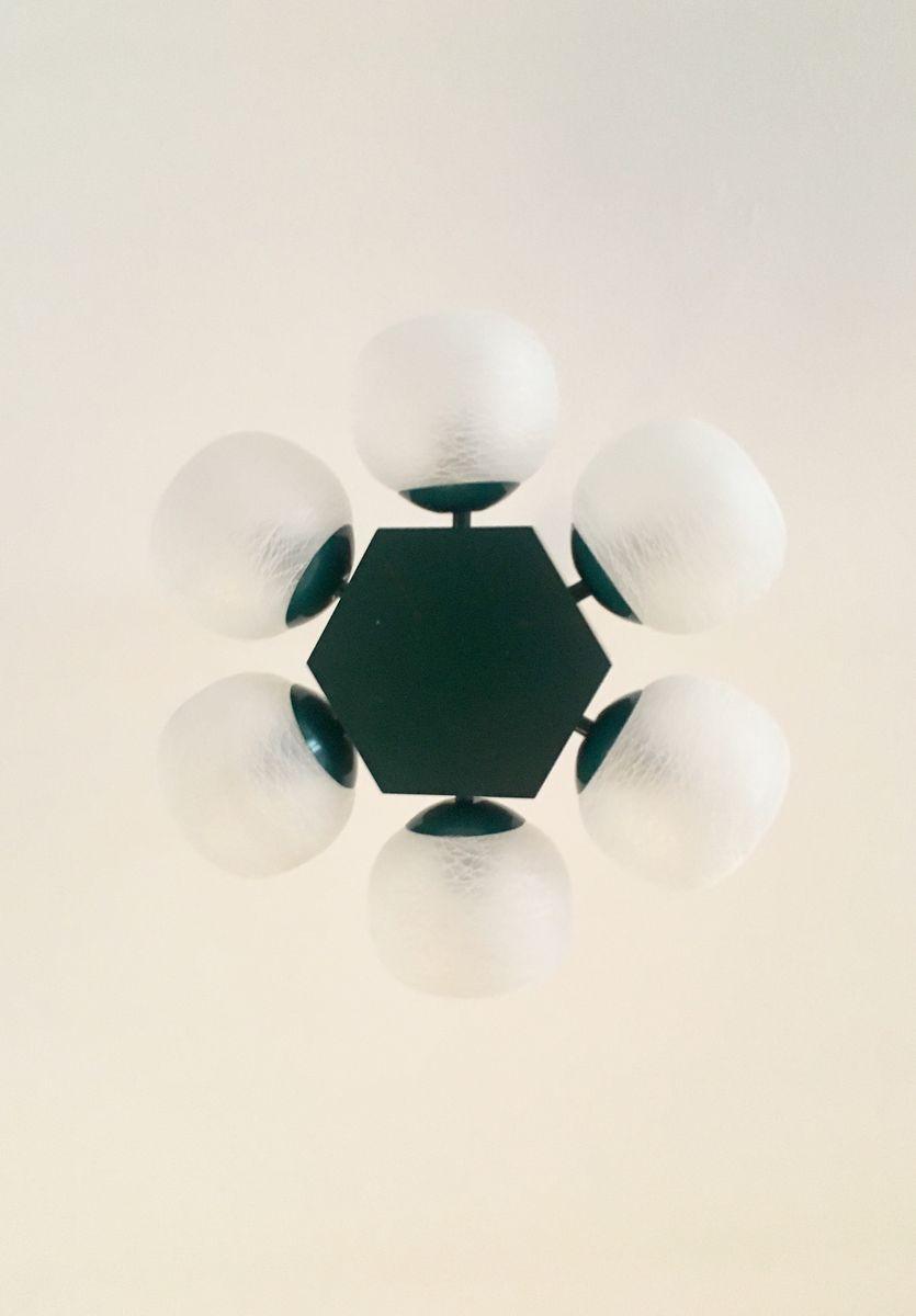 sputnik pendant from kaiser leuchten 1970s for sale at pamono. Black Bedroom Furniture Sets. Home Design Ideas