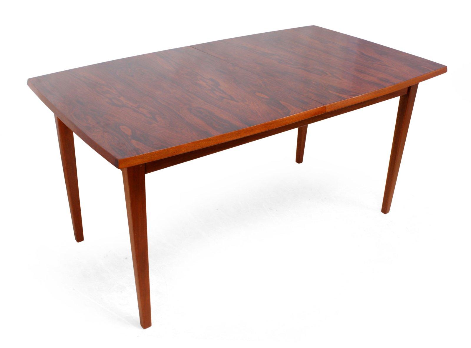 Good Mid Century Rosewood U0026 Teak Dining Table, 1970s