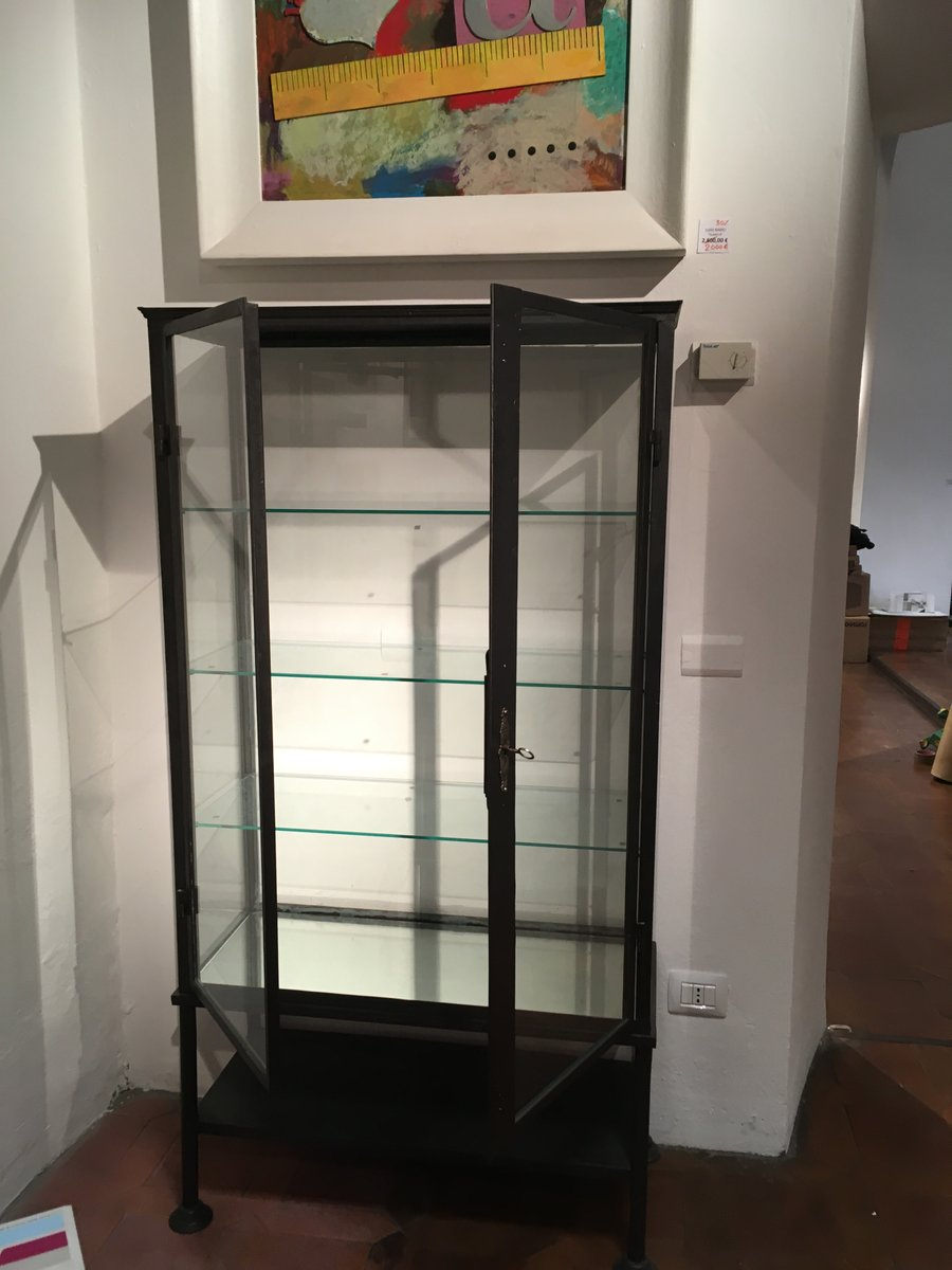 - Antique Iron & Glass Display Cabinet For Sale At Pamono