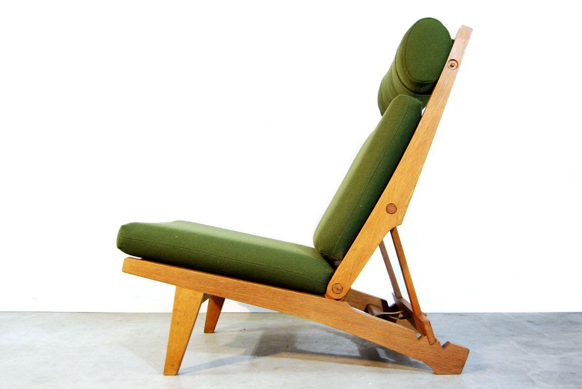 Danish AP71 Folding Lounge Chair U0026 Footstool By Hans J. Wegner For AP  Stolen, 1960s