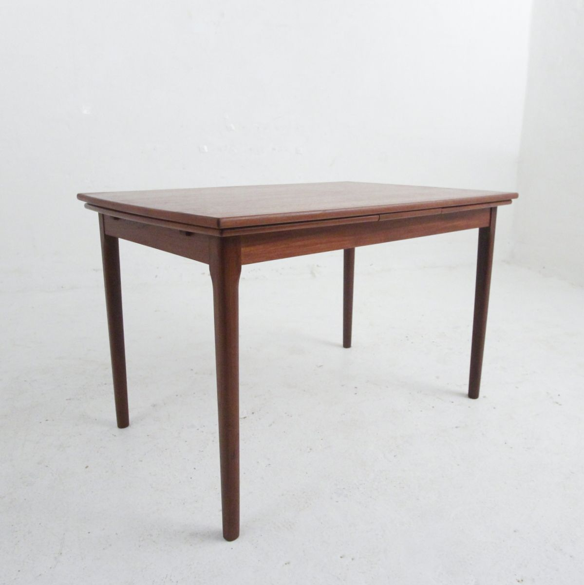Danish modern teak veneered extendable dining table for for Modern dining tables sale