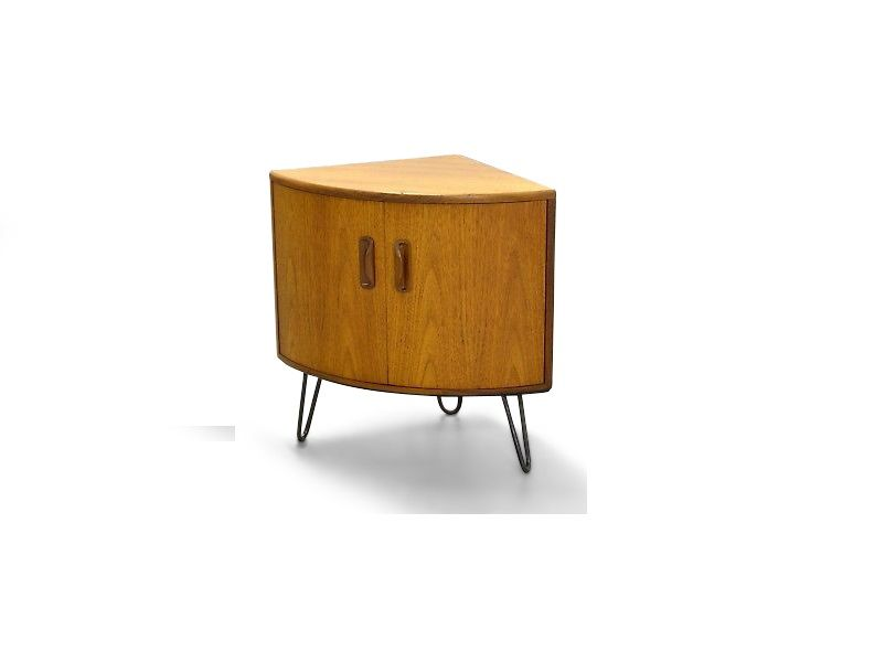 Mid Century Teak Corner Cabinet By Victor Wilkins For G Plan, 1960s