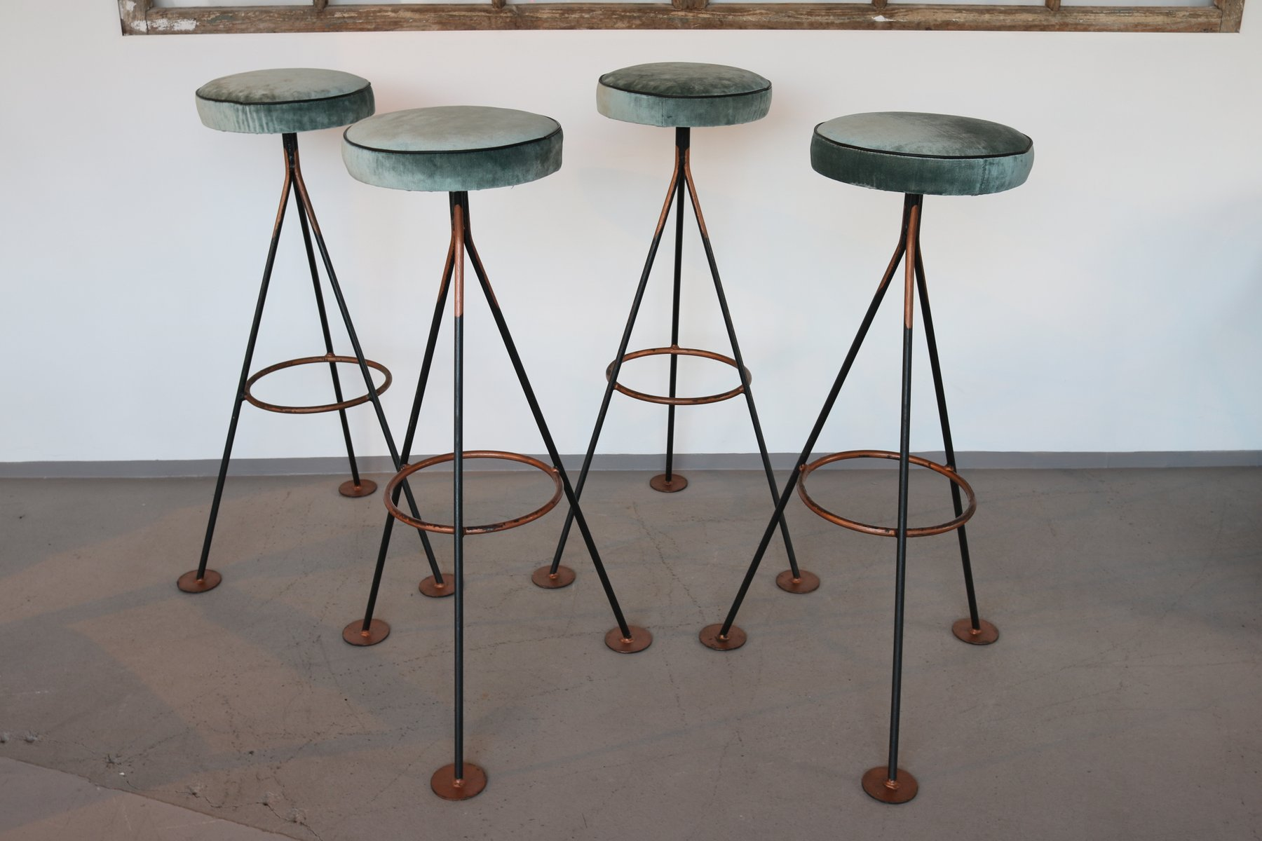 Mid Century Bar Stools 1960s Set Of 4 For Sale At Pamono