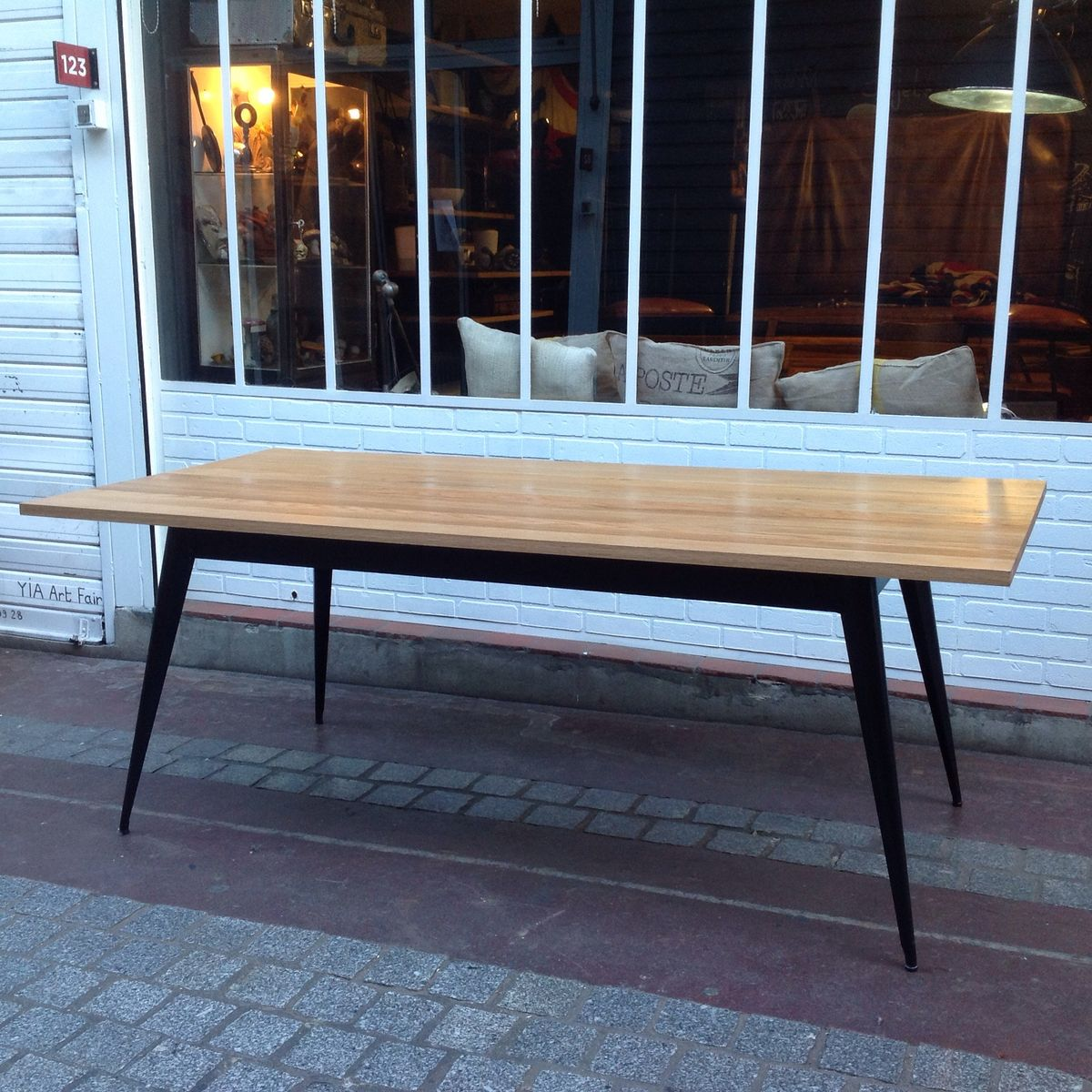 Vintage T55 Table by Xavier Pauchard for Tolix for sale at Pamono