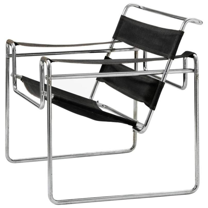 vintage model b3 wassily chair by marcel breuer for thonet. Black Bedroom Furniture Sets. Home Design Ideas