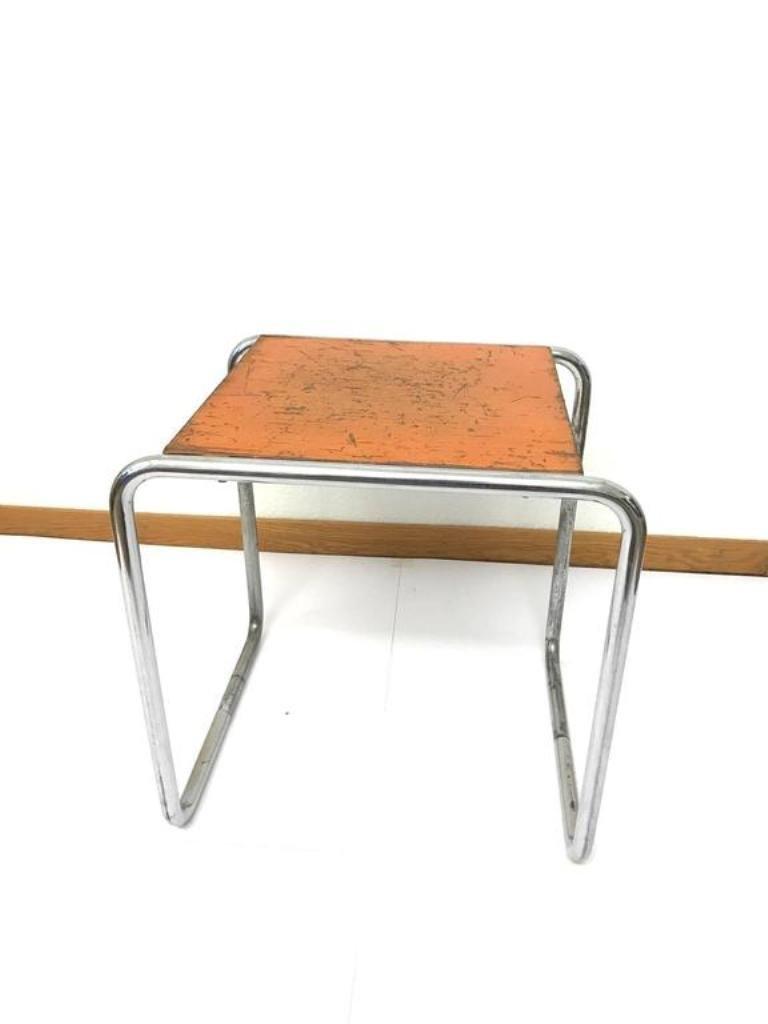 vintage bauhaus orange b9 tisch von marcel breuer f r. Black Bedroom Furniture Sets. Home Design Ideas