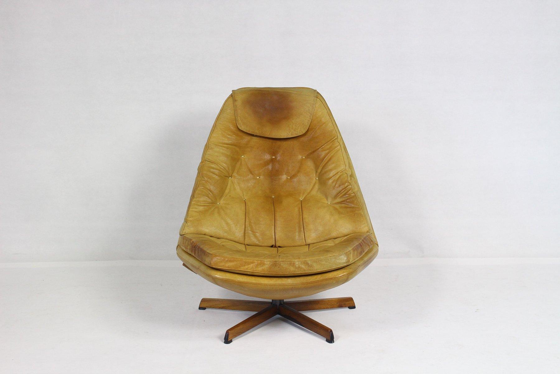 vintage ledersessel ottoman von madsen schubell f r bovenkamp bei pamono kaufen. Black Bedroom Furniture Sets. Home Design Ideas