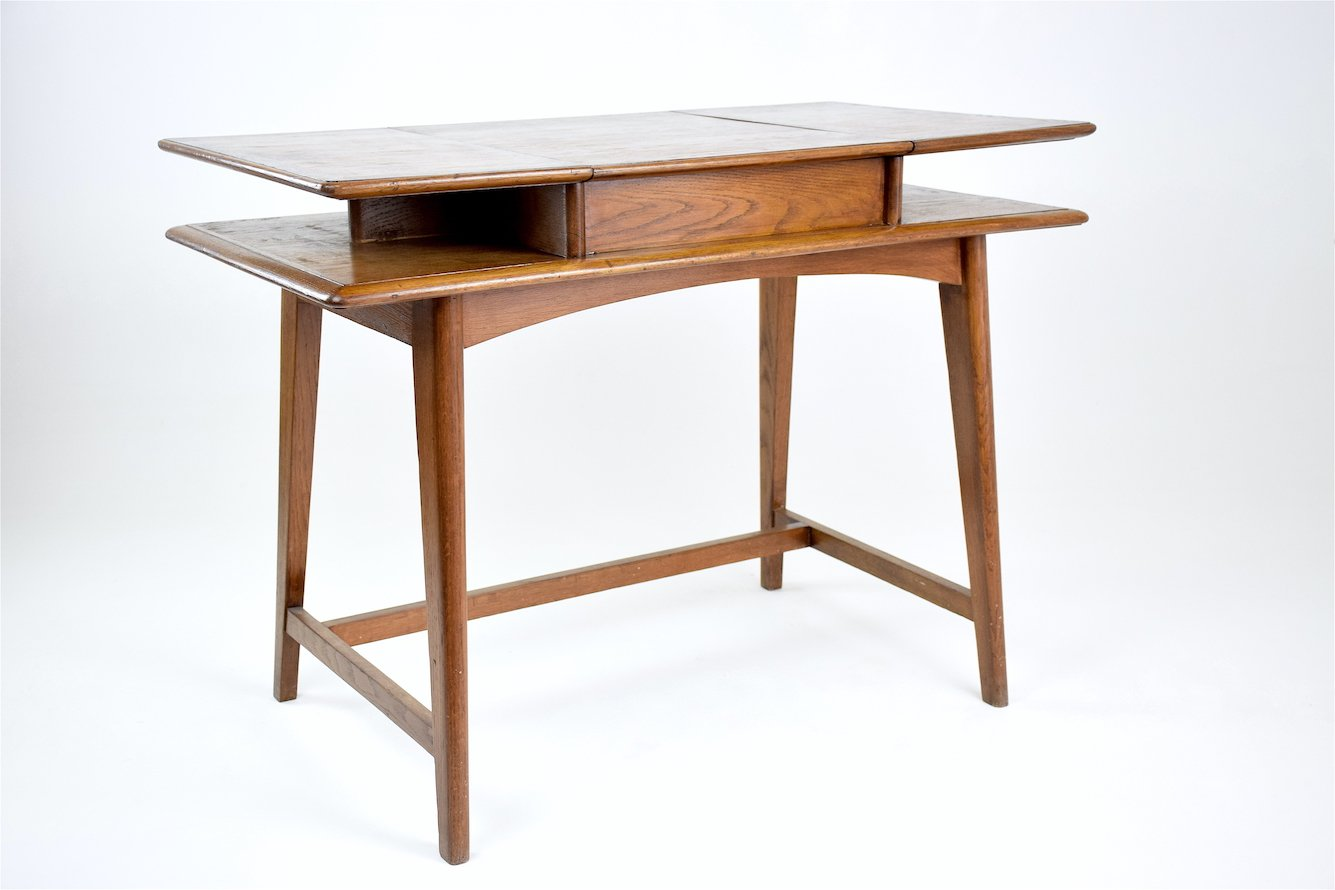flip top desk. Mid-Century French Flip Top Desk, 1950s Desk C