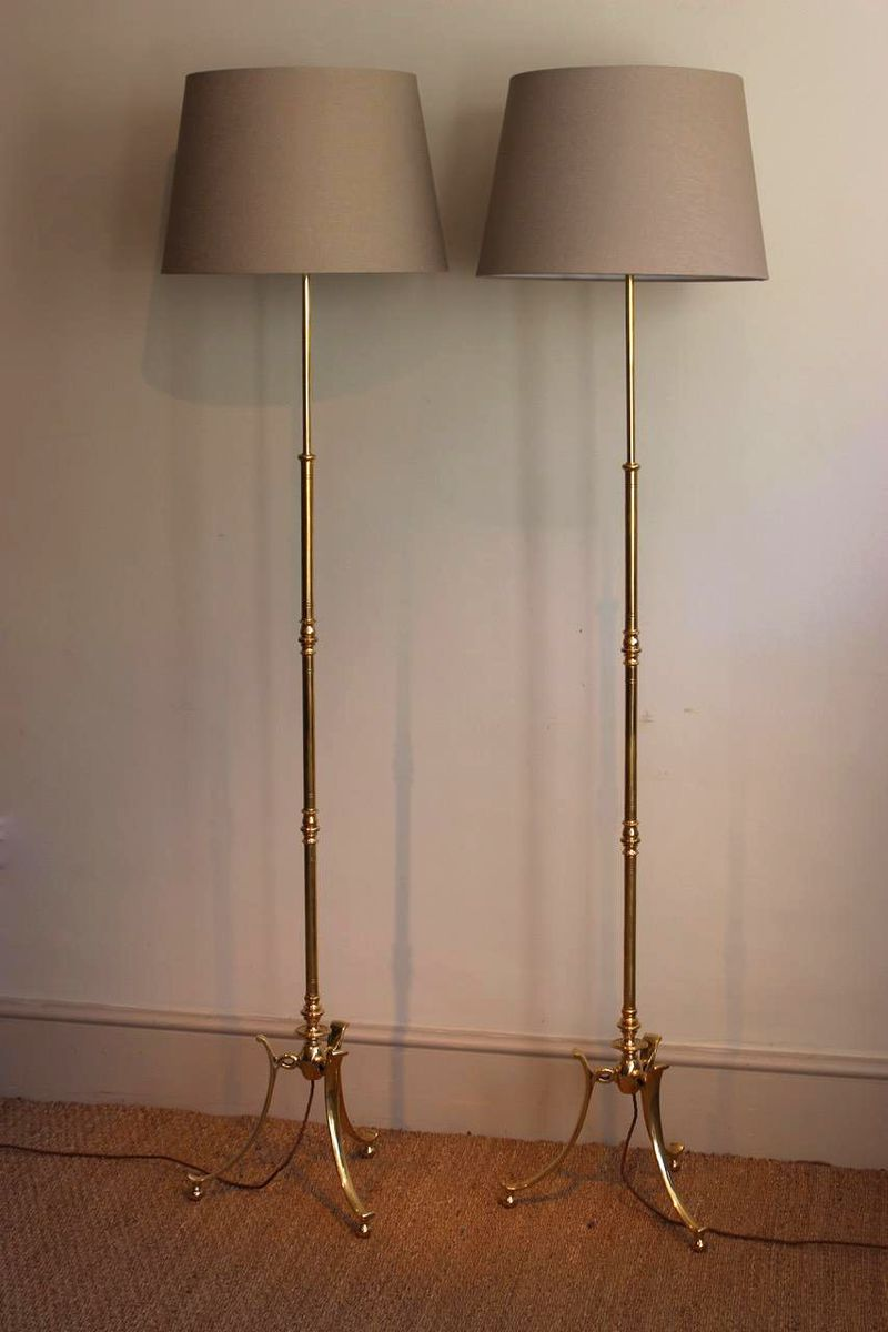 Early 20th Century Floor Lamps, Set Of 2 For Sale At Pamono